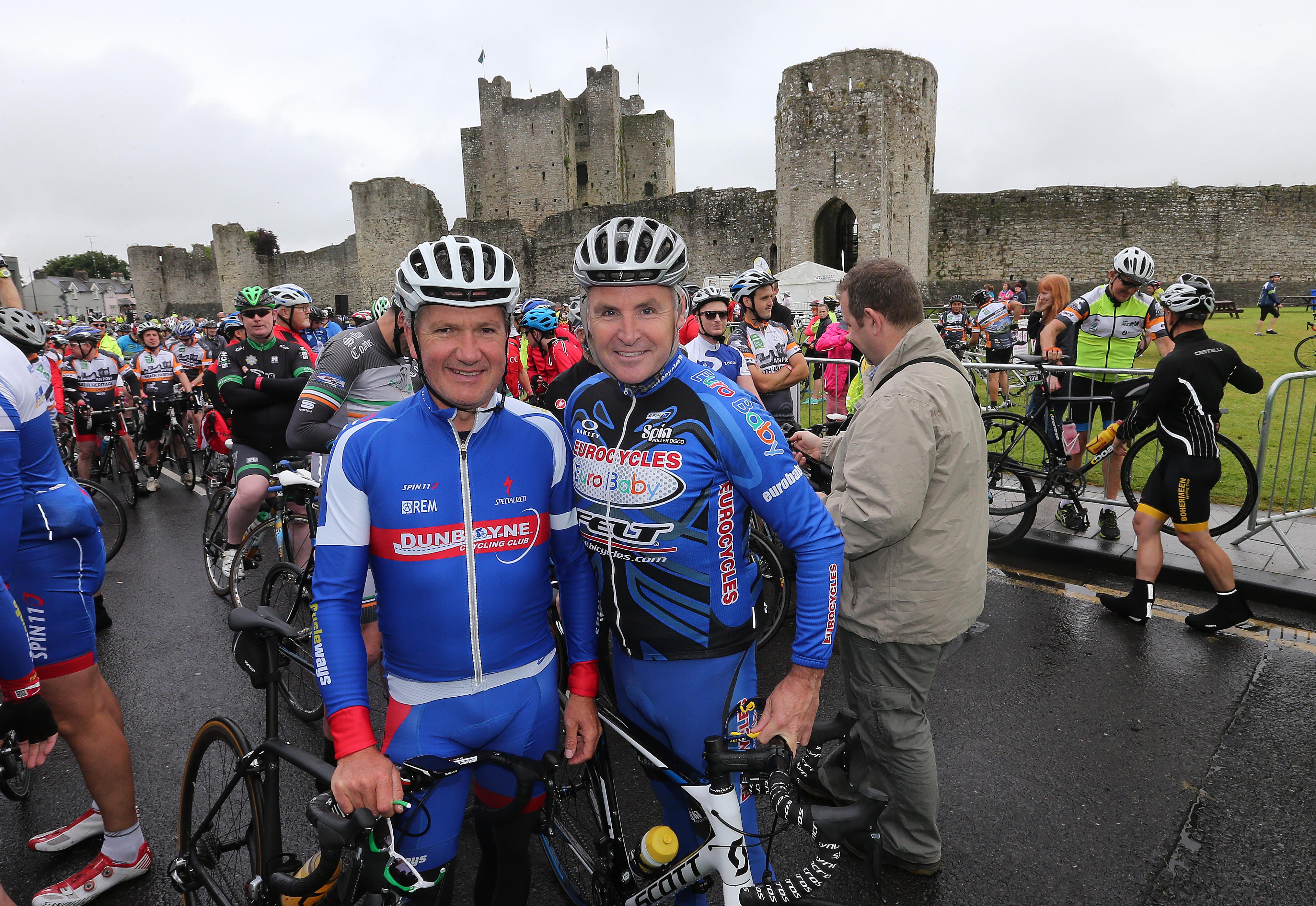 PRESS RELEASE..NO REPRODUCTION FEE…..  An Post Meath Heritage Cycle 24/7/2016 Philip Cassidy and Lurence Roche at the start of todays cycle Pic Lorraine O'Sullivan  PRESS RELEASE..NO REPRODUCTION FEE…..