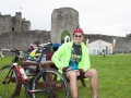Raman waiting for the start of the 100k Sport Ireland Heritage Cycle Tour in Trim. Photo: Hugh Mc Nelis/BarryCronin.com