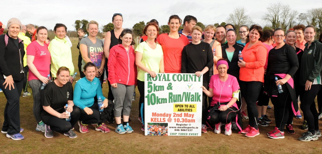 Participants from Parkrun Navan encouraging all to get involved in this year`s Royal County event