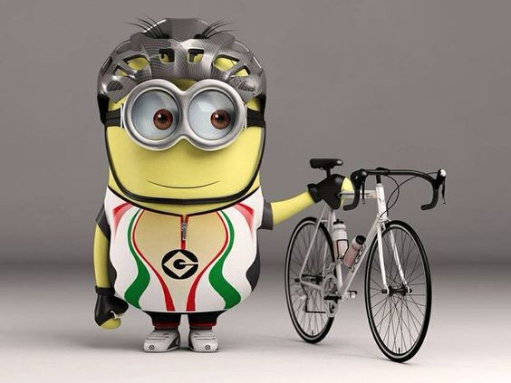 Minion on bike