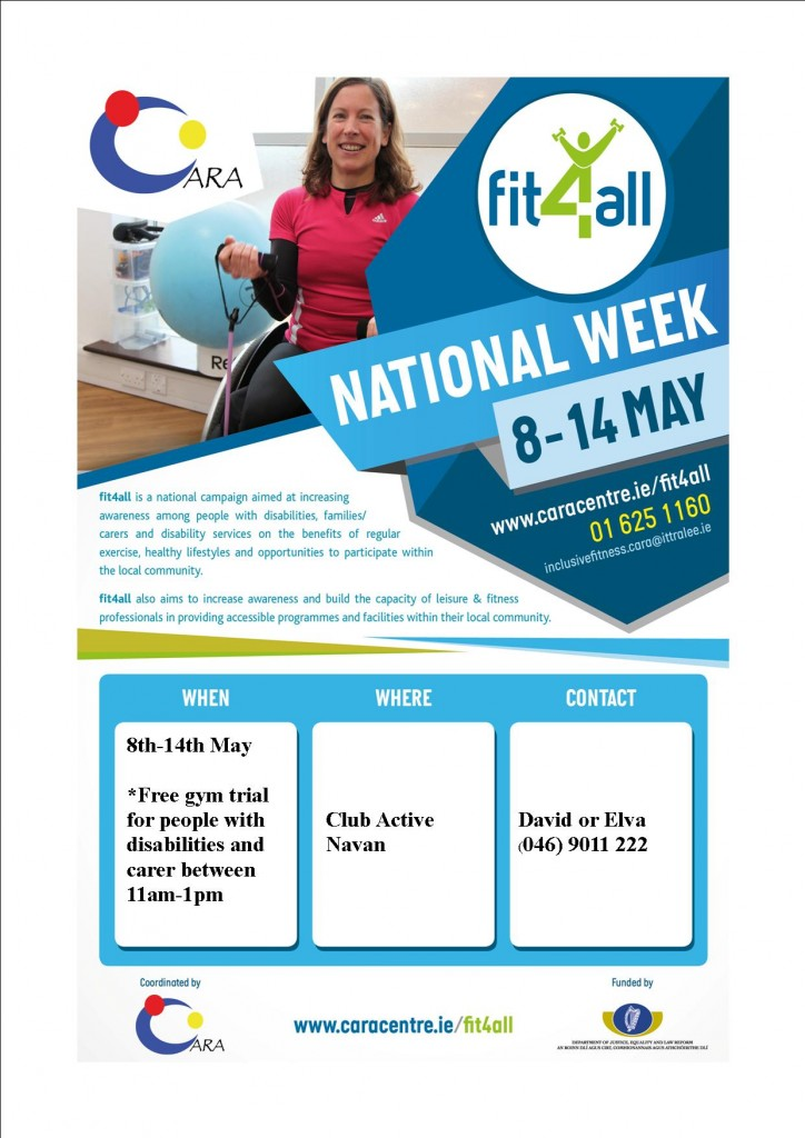 Fit 4 All Week Poster Club Active Navan