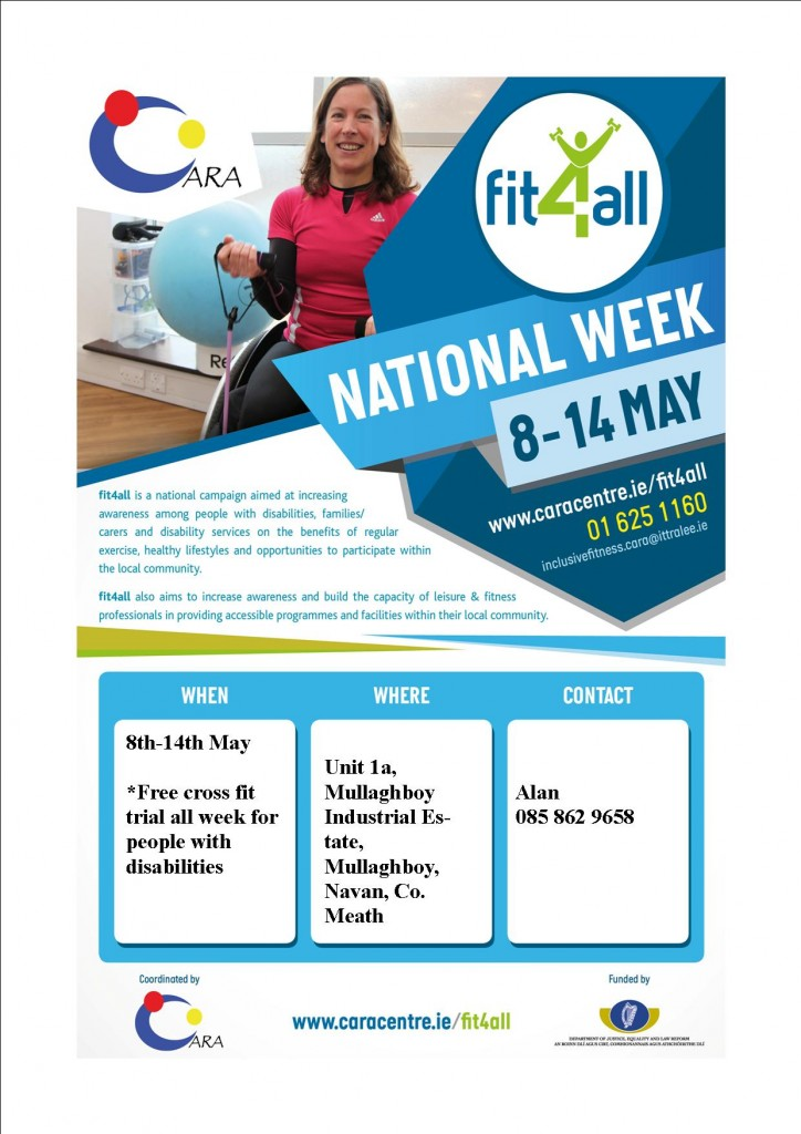 Fit 4 All Week Poster Cross Fit Navan