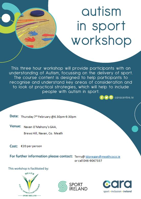 Autism in Sport Workshop (FULLY BOOKED) - Meath Sports